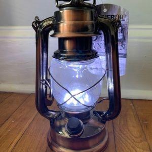 Nwt led lantern lights camping brushed bronze